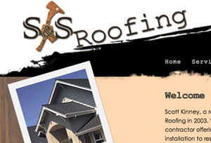 Kai Larsen Graphic Design Portfolio Science Museum S&S Roofing and Gutters Website